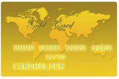 Tarjeta de batería del oro Foto de archivo libre de regalías