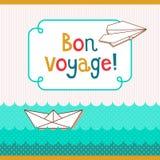 Tarjeta de Bon Voyage stock de ilustración