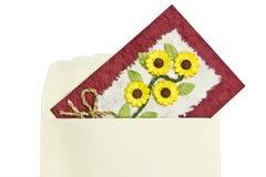 Tarjeta de carta Imágenes de archivo libres de regalías