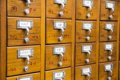 Tarjeta de catálogo Imagenes de archivo