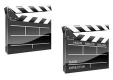 Tarjeta de chapaleta de la película Fotos de archivo