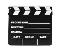 Tarjeta de chapaleta de la película Fotografía de archivo