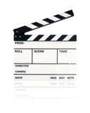 Tarjeta de chapaleta de la película foto de archivo libre de regalías
