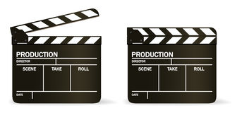 Tarjeta de chapaleta de la película del VECTOR Fotos de archivo