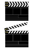Tarjeta de chapaleta de la película Fotografía de archivo libre de regalías