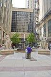 Tarjeta de Chicago del comercio Foto de archivo libre de regalías