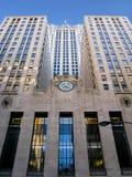 Tarjeta de Chicago del edificio del comercio fotos de archivo libres de regalías