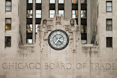 Tarjeta de Chicago del edificio del comercio imágenes de archivo libres de regalías