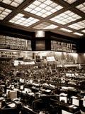 Tarjeta de Chicago del noir del suelo del comercio Fotografía de archivo libre de regalías