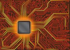 Tarjeta de circuitos stock de ilustración