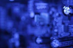 Tarjeta de circuitos azul imagen de archivo