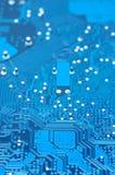 Tarjeta de circuitos azul fotografía de archivo libre de regalías