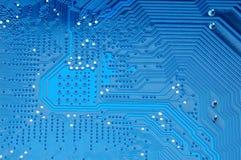 Tarjeta de circuitos azul Imagen de archivo libre de regalías