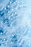 Tarjeta de circuitos azul clara Fotos de archivo libres de regalías