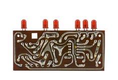 Tarjeta de circuitos con el LED Fotografía de archivo