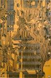 Tarjeta de circuitos de Brown Fotografía de archivo