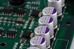 Tarjeta de circuitos de la electrónica fotos de archivo libres de regalías