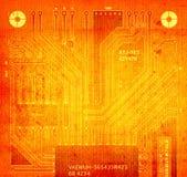 Tarjeta de circuitos de la parte trasera ilustración del vector