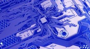 Tarjeta de circuitos de ordenador Foto de archivo libre de regalías