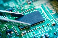 Tarjeta de circuitos de ordenador Imagen de archivo