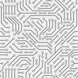 Tarjeta de circuitos de ordenador Modelo inconsútil ilustración del vector