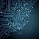 Tarjeta de circuitos del fondo Imagenes de archivo
