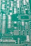 Tarjeta de circuitos DOF bajo Fotografía de archivo