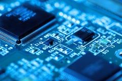 tarjeta de circuitos electrónicos Imagenes de archivo