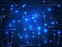 Tarjeta de circuitos Fondo abstracto de Digitaces Foto de archivo