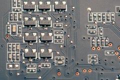 Tarjeta de circuitos impresos foto de archivo libre de regalías