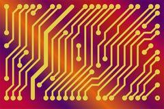 Tarjeta de circuitos impresos stock de ilustración