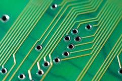 Tarjeta de circuitos impresos, macro Foto de archivo
