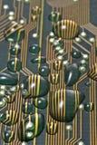 Tarjeta de circuitos mojada fotos de archivo