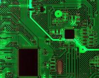 Tarjeta de circuitos retroiluminada Imágenes de archivo libres de regalías