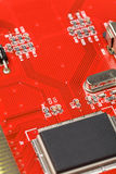 Tarjeta de circuitos roja Fotografía de archivo
