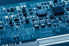 Tarjeta de circuitos Tecnología electrónica del hardware Componente de la ingeniería de información Fotografía macra Imagen de archivo