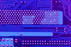 Tarjeta de circuitos Tecnología electrónica del hardware Microprocesador digital de la placa madre Fondo de la ciencia de la tecn imágenes de archivo libres de regalías