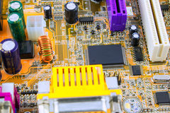 Tarjeta de circuitos Tecnología electrónica del hardware Microprocesador digital de la placa madre Fondo de la ciencia de la tecn fotografía de archivo libre de regalías
