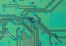 Tarjeta de circuitos Tecnología electrónica del hardware Microprocesador digital de la placa madre Fondo de la ciencia de la tecn imagen de archivo
