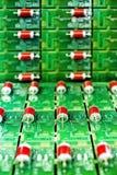Tarjeta de circuitos verde Foto de archivo