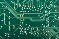 Tarjeta de circuitos verde Imagen de archivo