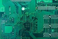 Tarjeta de circuitos verde Imagenes de archivo