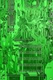 Tarjeta de circuitos verde Fotografía de archivo libre de regalías