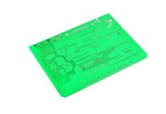 Tarjeta de circuitos verde Fotos de archivo