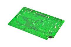 Tarjeta de circuitos verde Foto de archivo libre de regalías