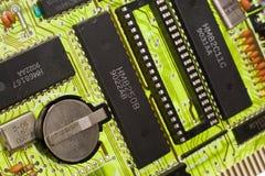 Tarjeta de circuitos verde clara Imagenes de archivo