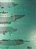 Tarjeta de circuitos verde oscuro moderna Imagen de archivo