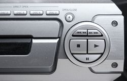 Tarjeta de control audio de sistema Fotografía de archivo