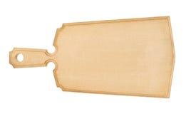 Tarjeta de corte de madera aislada Foto de archivo libre de regalías