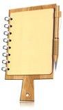 Tarjeta de corte formada cuaderno con las paginaciones Fotos de archivo